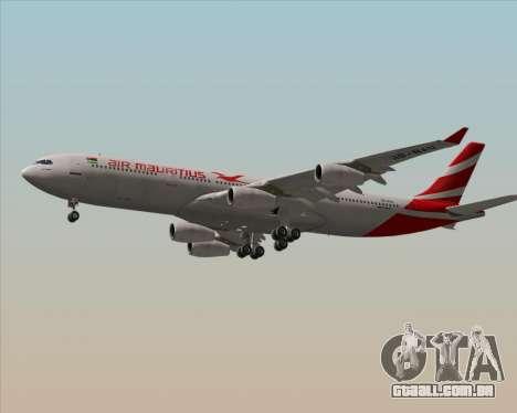 Airbus A340-312 Air Mauritius para GTA San Andreas vista traseira