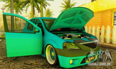 Dacia Logan Elegant para GTA San Andreas vista traseira