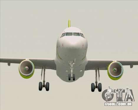 Airbus A320-200 Air Australia para GTA San Andreas vista traseira