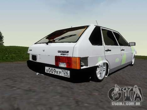 VAZ 2109 para vista lateral GTA San Andreas