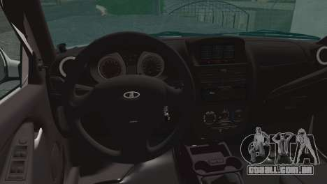 Lada Kalina 2 Vagão para GTA San Andreas traseira esquerda vista