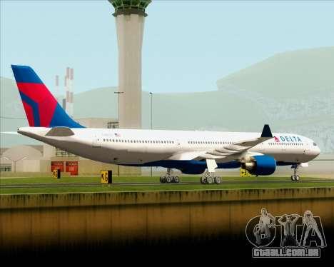 Airbus A330-300 Delta Airlines para GTA San Andreas traseira esquerda vista