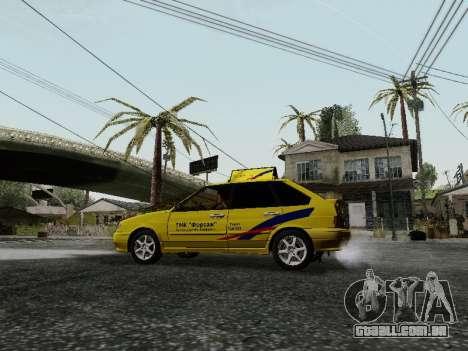 VAZ 2114 TMK afterburner para GTA San Andreas vista traseira