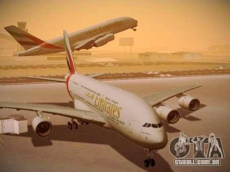 Airbus A380-800 Emirates para GTA San Andreas vista interior