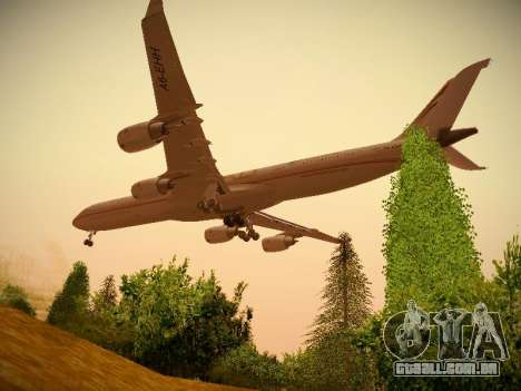 Airbus A340-600 Etihad Airways para GTA San Andreas vista interior