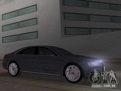 Audi A8 2010 W12 Rim1 para GTA Vice City deixou vista