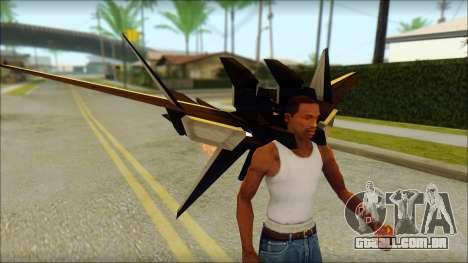 Machine Wing Jetpack para GTA San Andreas por diante tela