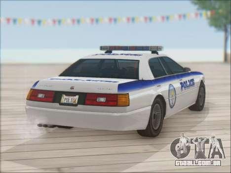 Admiral Police para GTA San Andreas vista superior
