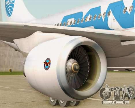 Airbus A310-324 Pan American World Airways para GTA San Andreas interior