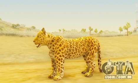 Leopard (Mammal) para GTA San Andreas segunda tela