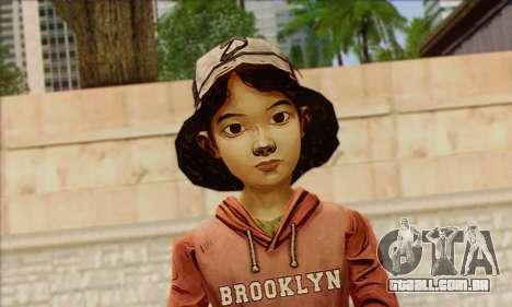 Klementine from Walking Dead para GTA San Andreas terceira tela