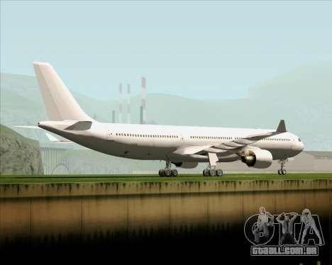 Airbus A330-300 Full White Livery para GTA San Andreas traseira esquerda vista