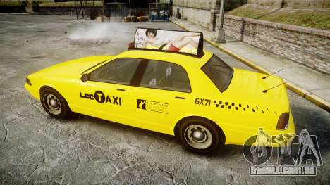 GTA V Vapid Taxi LCC para GTA 4 esquerda vista