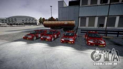 Mitsubishi Lancer Evolution VI Rally para GTA 4 vista de volta