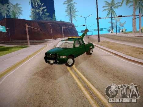 Dodge Ram Tow-Truck para GTA San Andreas esquerda vista