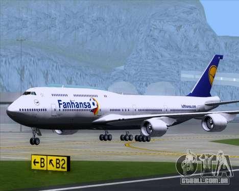 Boeing 747-830 Lufthansa - Fanhansa para GTA San Andreas vista interior