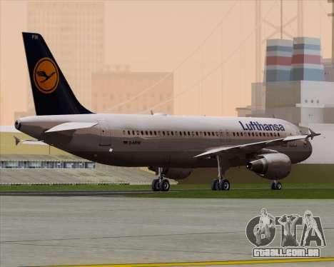 Airbus A320-211 Lufthansa para GTA San Andreas vista direita