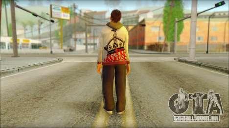 GTA 5 Ped 6 para GTA San Andreas segunda tela