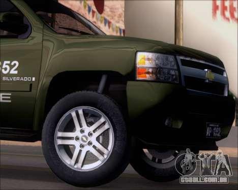 Chevrolet Silverado Gope para vista lateral GTA San Andreas