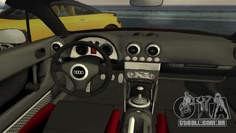 Audi TT Coupe BiMotor Black Revel para GTA Vice City vista interior