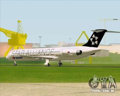 McDonnell Douglas MD-82 Spanair para GTA San Andreas vista direita