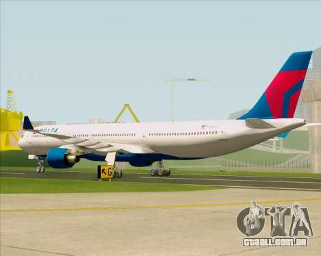 Airbus A330-300 Delta Airlines para GTA San Andreas vista direita