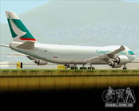 Boeing 747-8 Cargo Cathay Pacific Cargo para o motor de GTA San Andreas