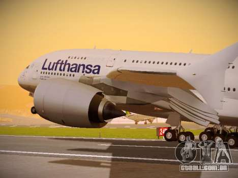Airbus A380-800 Lufthansa para vista lateral GTA San Andreas