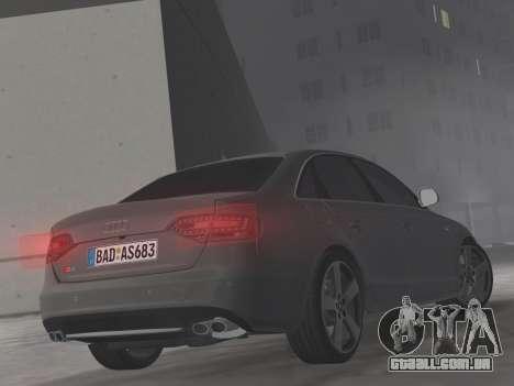Audi S4 (B8) 2010 - Metallischen para GTA Vice City vista superior