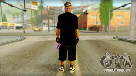 East Side Ballas Skin 2 para GTA San Andreas segunda tela