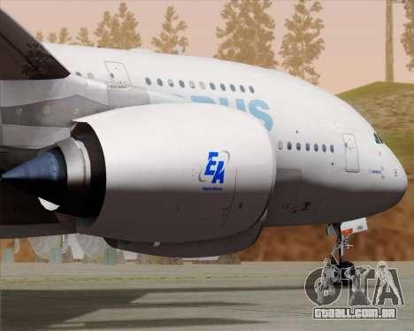 Airbus A380-861 para GTA San Andreas vista interior