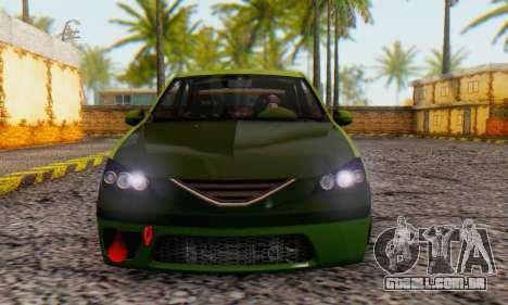 Dacia Logan MOR para GTA San Andreas traseira esquerda vista