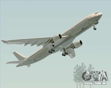 Airbus A330-300 Full White Livery para GTA San Andreas vista interior