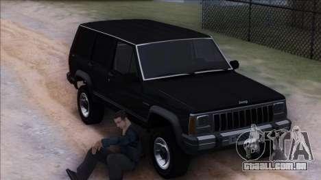 Jeep Cherokee para vista lateral GTA San Andreas