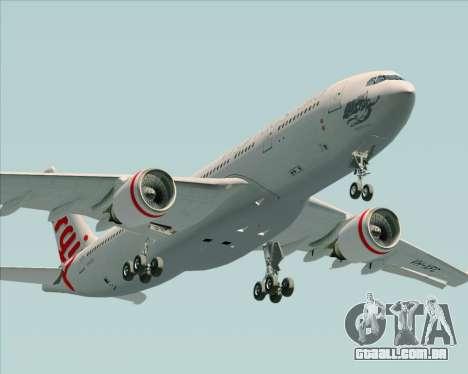 Airbus A330-200 Virgin Australia para vista lateral GTA San Andreas