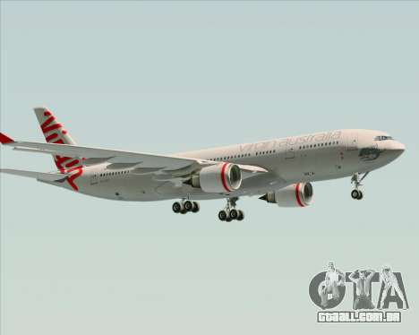 Airbus A330-200 Virgin Australia para GTA San Andreas vista inferior