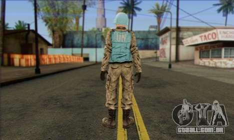 Uma força de paz da ONU (Postal 3) para GTA San Andreas segunda tela