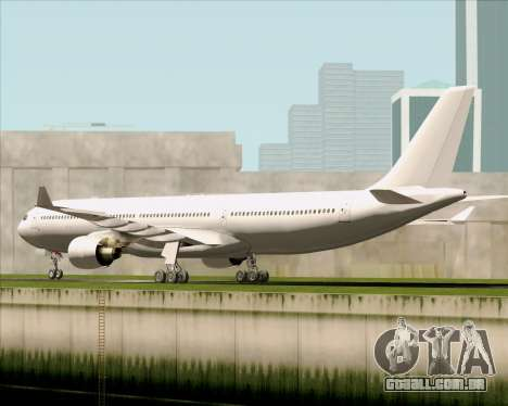 Airbus A330-300 Full White Livery para GTA San Andreas vista direita