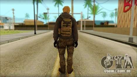 Alfred F. Jones para GTA San Andreas segunda tela