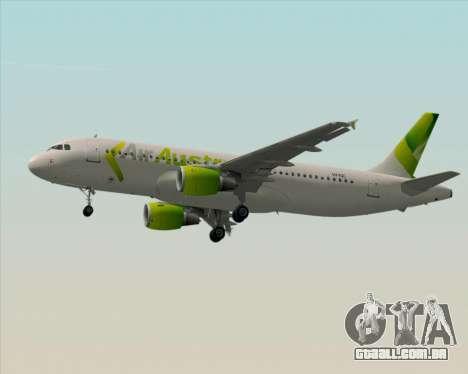 Airbus A320-200 Air Australia para GTA San Andreas vista inferior