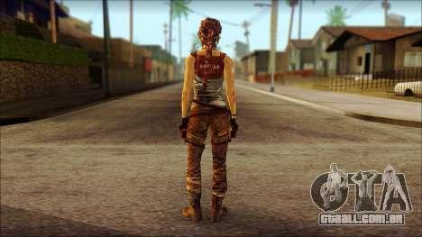 Tomb Raider Skin 7 2013 para GTA San Andreas segunda tela