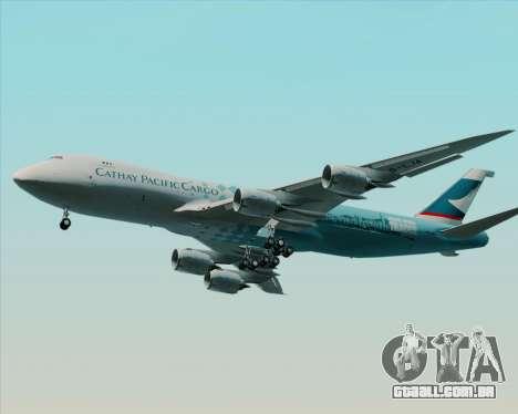 Boeing 747-8 Cargo Cathay Pacific Cargo para GTA San Andreas vista inferior