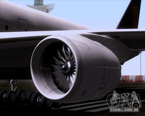 Boeing 747-830 Lufthansa - Fanhansa para GTA San Andreas vista inferior