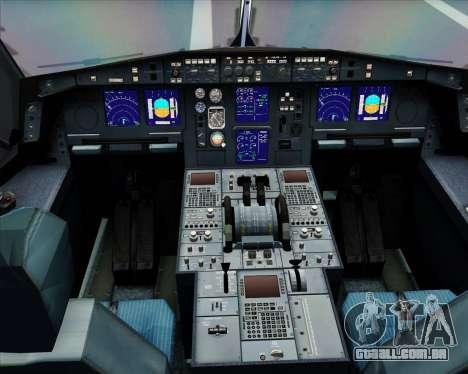 Airbus A330-300 Delta Airlines para vista lateral GTA San Andreas