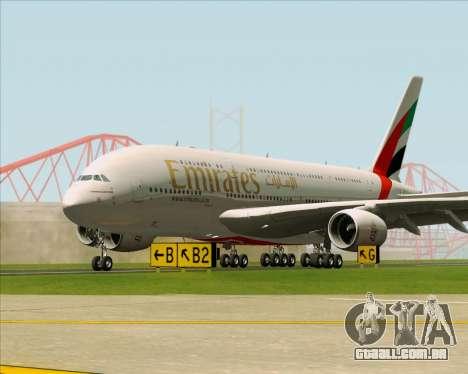 Airbus A380-841 Emirates para GTA San Andreas vista inferior
