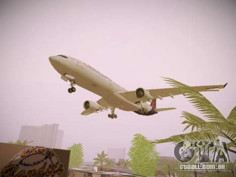 Airbus A330-300 Brussels Airlines para GTA San Andreas vista inferior