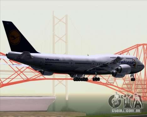 Boeing 747-830 Lufthansa - Fanhansa para GTA San Andreas vista traseira
