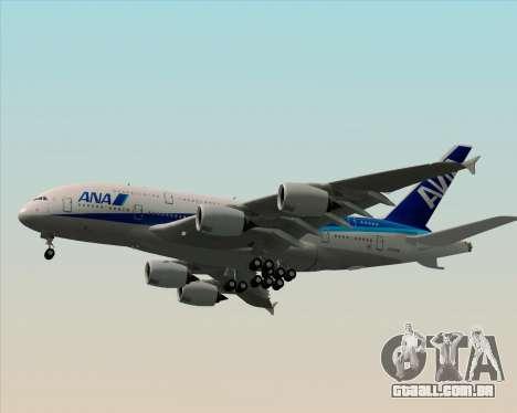 Airbus A380-800 All Nippon Airways (ANA) para GTA San Andreas vista superior