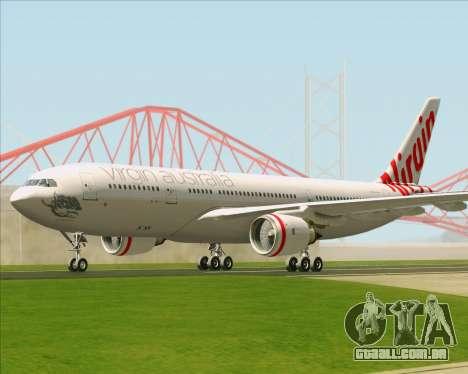 Airbus A330-200 Virgin Australia para GTA San Andreas vista traseira