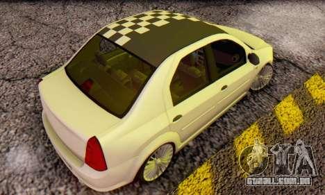 Dacia Logan ZYCU para GTA San Andreas traseira esquerda vista